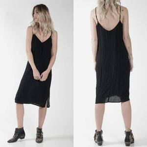 Knot Sisters About A Girl Midi Slip Dress Black S